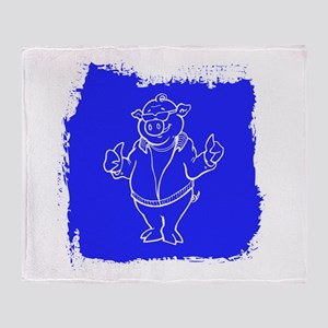 Cool Cartoon Pig Throw Blanket