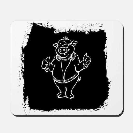 Cool Cartoon Pig Mousepad