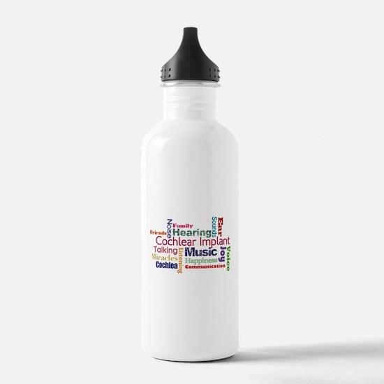 Words Water Bottle