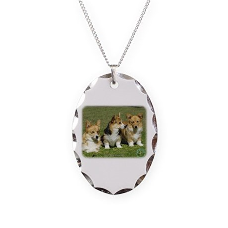 Welsh Corgi Pembroke 9M71D-19 Necklace Oval Charm