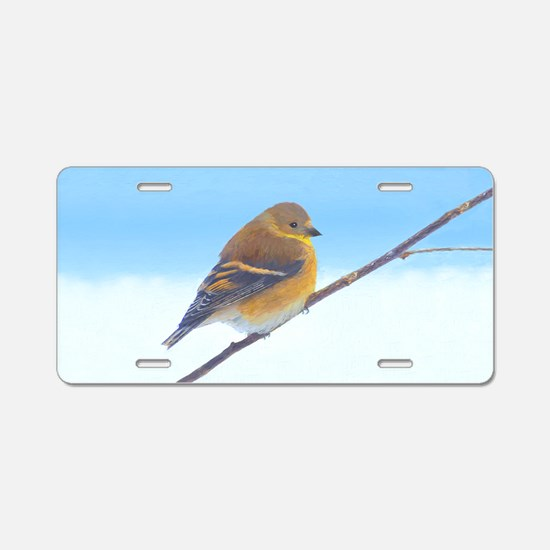 Goldfinch Aluminum License Plate