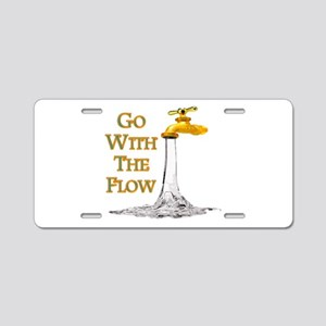 Go With The Flow Aluminum License Plate