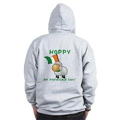 Happy St Patricks Day Sheep Zip Hoodie