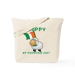 Happy St Patricks Day Sheep Tote Bag