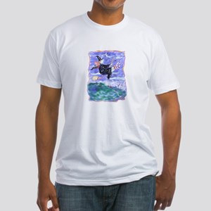 Witch Watercolor Fitted T-Shirt
