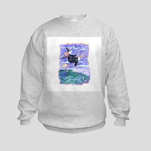 Witch Watercolor Kids Sweatshirt