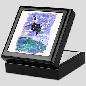 Witch Watercolor Keepsake Box