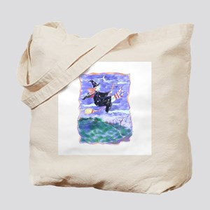 Witch Watercolor Tote Bag