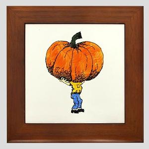 Great Pumpkn Framed Tile