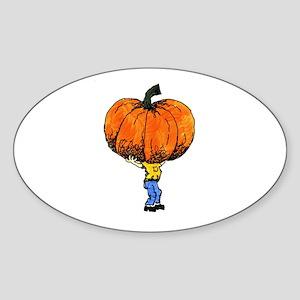 Great Pumpkn Oval Sticker