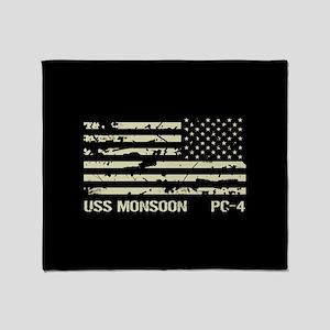 USS Monsoon Throw Blanket