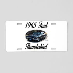 1965 Black Ford Thunderbird Aluminum License Plate