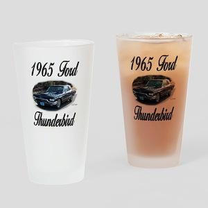 1965 Black Ford Thunderbird Drinking Glass