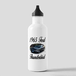 1965 Black Ford Thunderbird Stainless Water Bottle