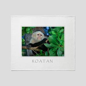 Monkey Roatan Throw Blanket