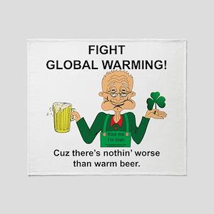 Irish Fight Global warming Throw Blanket