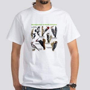 Woodpeckers of North America White T-Shirt