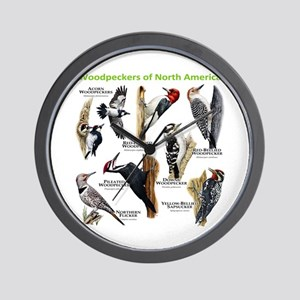 Woodpeckers of North America Wall Clock