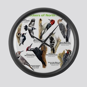 Woodpeckers of North America Large Wall Clock