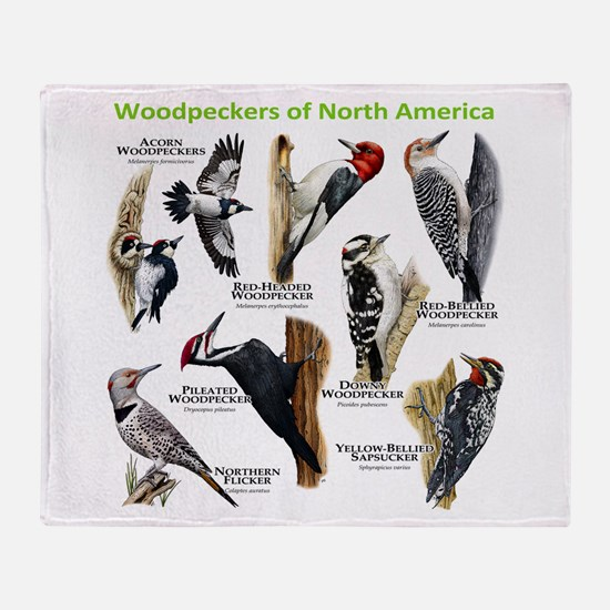Woodpeckers of North America Throw Blanket