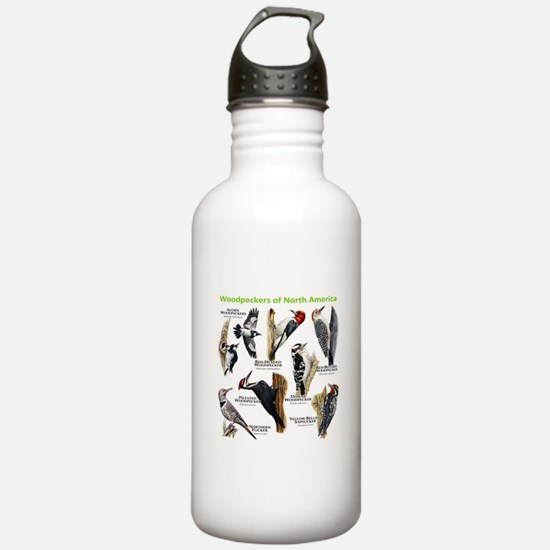 Woodpeckers of North America Sports Water Bottle