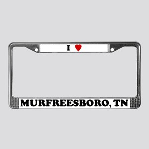 I Love Murfreesboro License Plate Frame