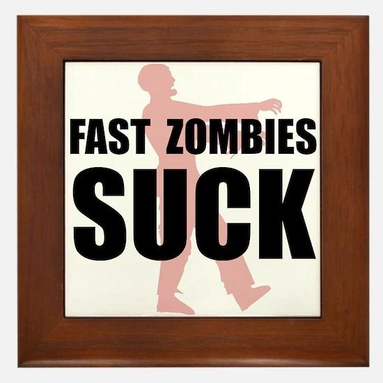 Fast Zombies Framed Tile