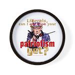 Question Liberal Patriotism? Wall Clock