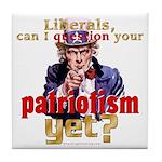 Question Liberal Patriotism? Tile Coaster