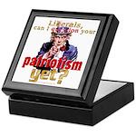Question Liberal Patriotism? Keepsake Box