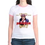 Question Liberal Patriotism? Jr. Ringer T-Shirt