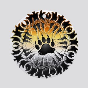 Tribal Bear Pride Paw Ornament (Round)