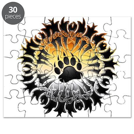 Tribal Bear Pride Paw Puzzle