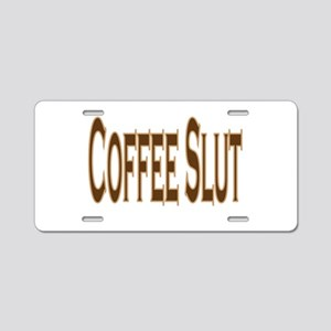 Coffee Slut Aluminum License Plate
