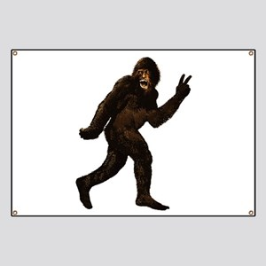 Bigfoot Yeti Sasquatch Peace Banner
