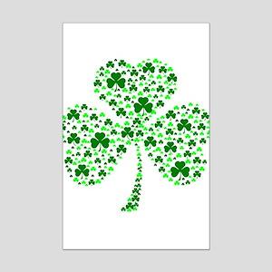 Irish Shamrocks Mini Poster Print