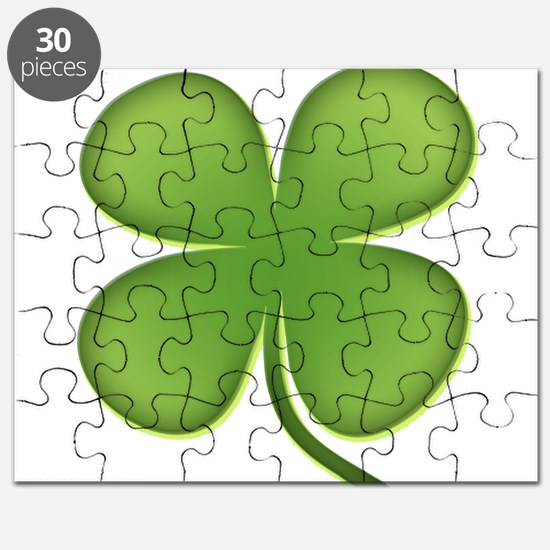 Lucky Irish Four Leaf Clover Puzzle