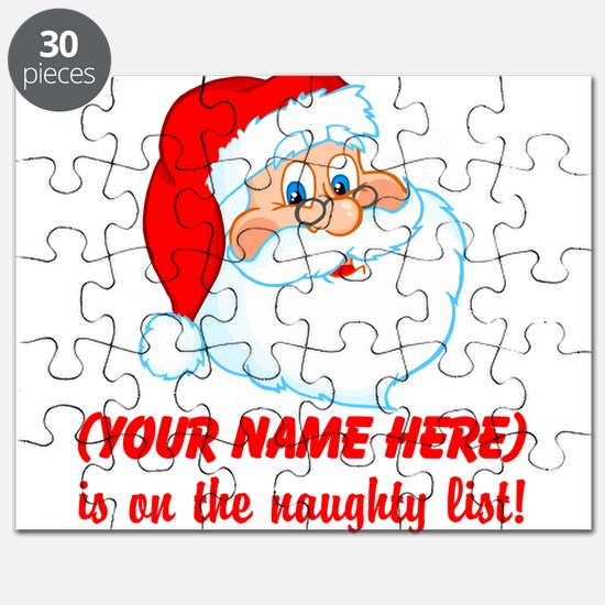 Personalized Naughty List Puzzle