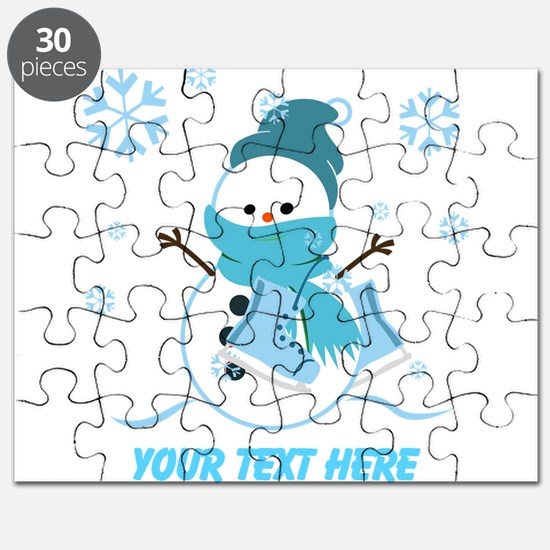 Cute Personalized Snowman Puzzle