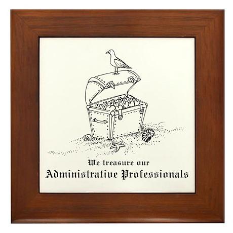 Treasure Administrative Pros Framed Tile