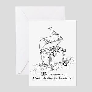 Treasure Administrative Pros Greeting Card