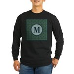 Cathedral Blue Monogram Long Sleeve Dark T-Shirt