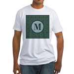 Cathedral Blue Monogram Fitted T-Shirt