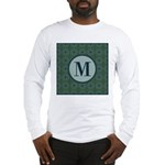 Cathedral Blue Monogram Long Sleeve T-Shirt