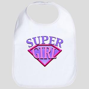 Super Girl (Pink) Bib