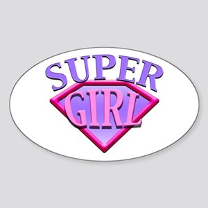 Super Girl (Pink) Oval Sticker