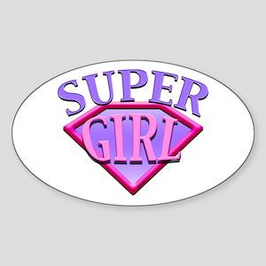 Super Girl (Pink) Oval Sticker