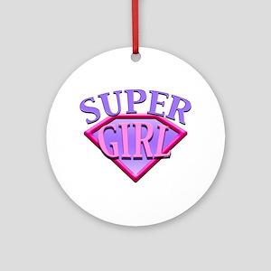 Super Girl (Pink) Ornament (Round)