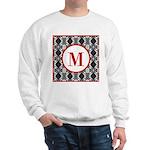 Diamond Red Monogram Sweatshirt