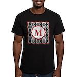 Diamond Red Monogram Men's Fitted T-Shirt (dark)